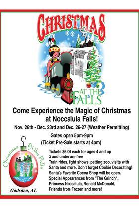 Come Enjoy the Magic of Christmas at Noccalula Falls
